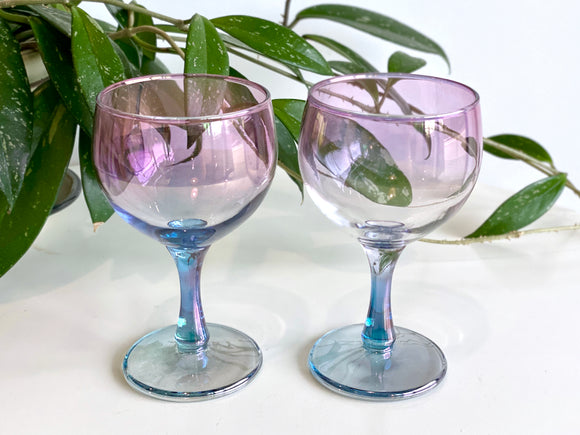 Crown Crystal Glass (Australia) wine glasses (x2)