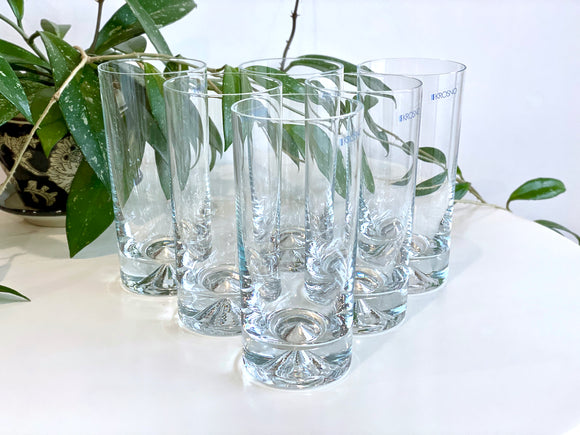 Krosno (Poland) highball glasses (x6)