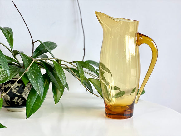 Krosno (Poland) glass pitcher