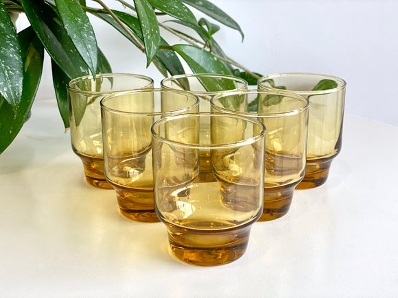 Crown Crystal / Kaaru Glass (New Zealand) 'Tasman' tumbler glasses (x6)