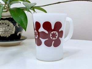 AGEE / CROWN PYREX 'Flower Power' in brown, coffee mug