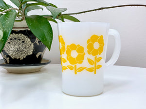AGEE / CROWN PYREX 'Poppy' in yellow, coffee mug