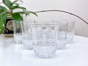 "Cristal D'Arques-Durand (France) 'Ancenis' crystal ""old fashioned"" glasses (x6)"