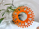 AGEE / CROWN PYREX 'Doily' in orange, #PRS8 scalloped pie dish