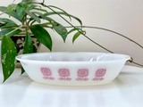 AGEE / CROWN PYREX 'Spanish' Oval Pie Dish