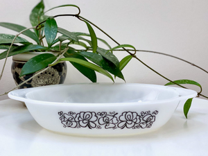 AGEE / CROWN PYREX 'Clover' #PO200 Oval Pie Dish