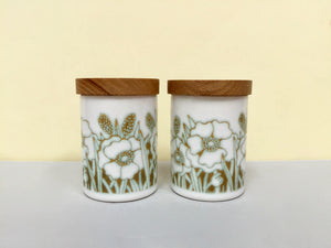 Hornsea Pottery (England) 'Fleur' salt and pepper shakers