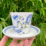 Figgjo (Norway) 'Lotte' teacup and saucer (larger size)