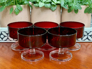 Luminarc (France) 'Cavalier' champagne coupe glasses (x5)