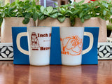 AGEE / CROWN PYREX 'Inch High, Braveheart' coffee mugs - original packaging!