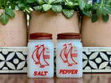 Hazel Atlas (USA), 'Sailboat' salt and pepper shakers