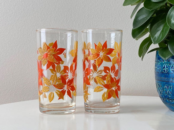 Vintage drinking glasses (x2)