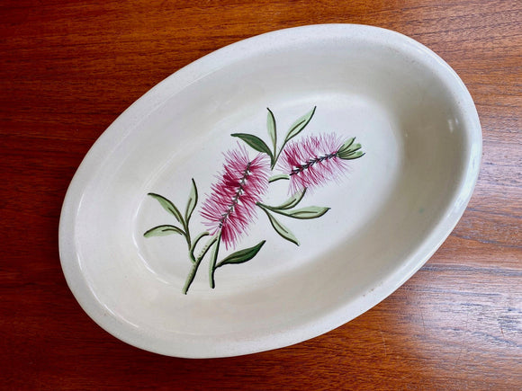 DIANA POTTERY (Australia) bottle brush, oval serving dish