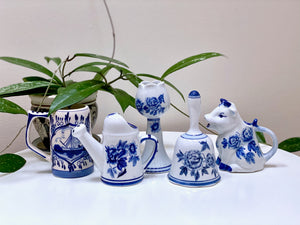 Hand-painted Delft Blue figurines (Netherlands)