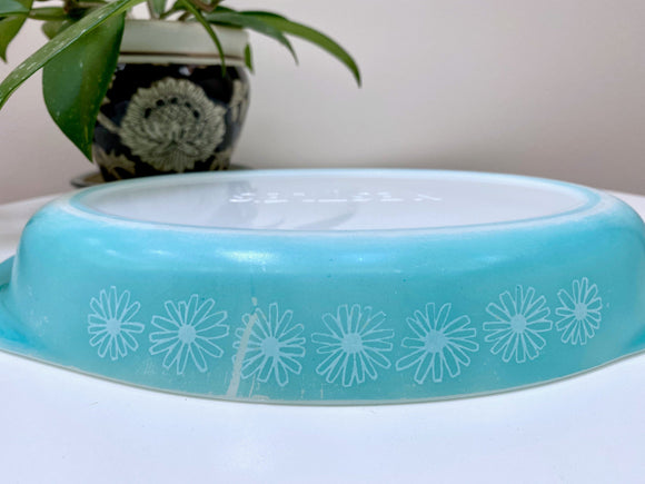 AGEE / CROWN PYREX 'Nestle's' oval baking dish