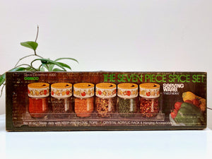Gemco (USA) Seven Piece Spice Set, matchables / 'Spice of Life'