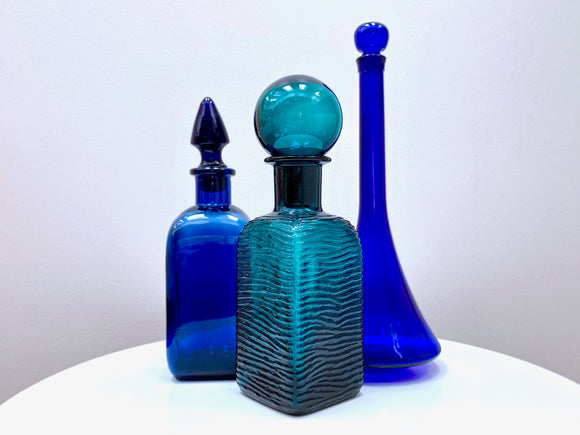 Various vintage glass bottles / decanters [sold separately]