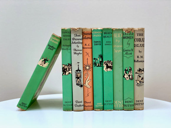 The Children's Illustrated Classics - vintage novels - set of nine!