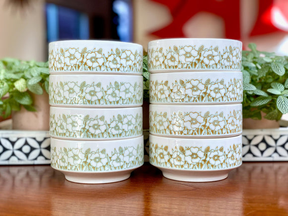 Hornsea Pottery (England) 'Fleur' cereal / soup bowls x 4 [two sets available]