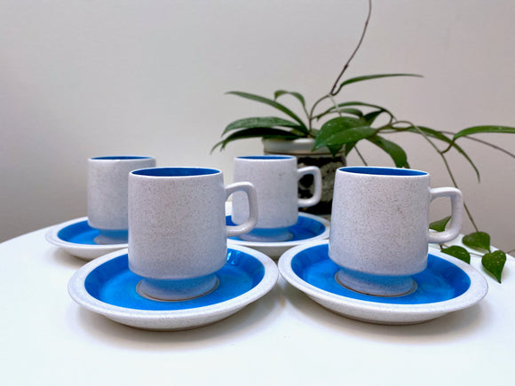 Tee Time (Japan) cup and saucer set (x4)