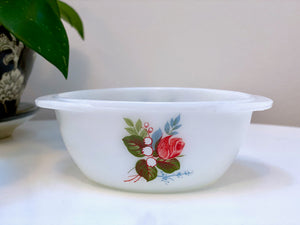 JAJ PYREX 'Cottage Rose', #501 pixie casseroles