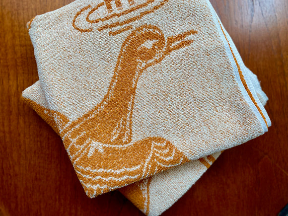 Vintage cotton bath towels (x2)