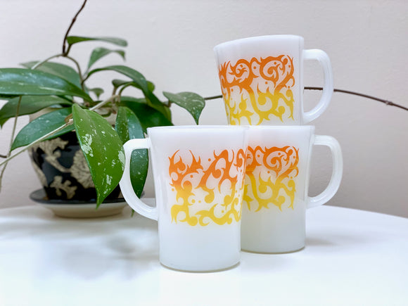 AGEE / CROWN PYREX 'Scroll' coffee mugs [sold separately]