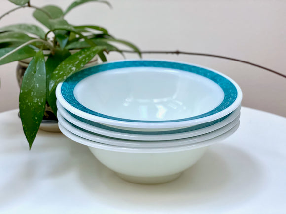 PYREX 'Bluegrass' #790 Serving Bowls x4 [two sets available]