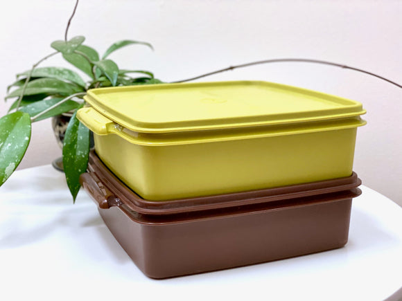Tupperware (USA) square storage containers (x2)