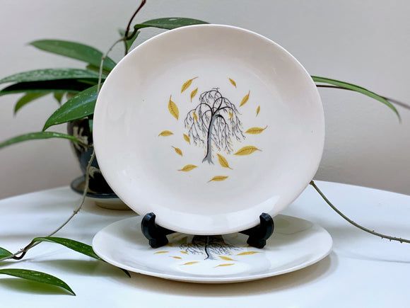 Johnson Bros (England) 'Weeping Willow' side plates (x2)