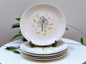 Johnson Bros (England) 'Weeping Willow' dinner plates (x6)