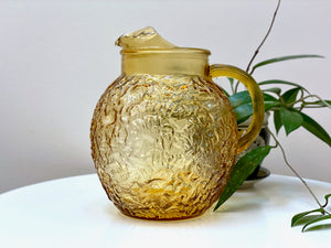 Anchor Hocking (USA) 'Milano' pitcher, in honey gold