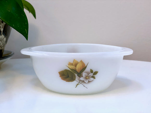 JAJ PYREX 'Autumn Glory', #501 pixie casseroles