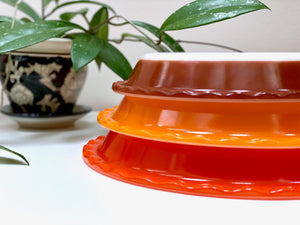 AGEE / CROWN PYREX #PRS8, #PRS9 and #PRS10 scalloped pie dishes [sold separately]