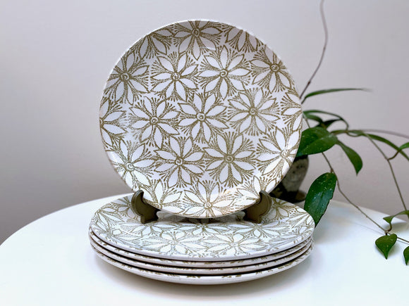 Crown Lynn (New Zealand) 'Clematis' dinner plates (x5)