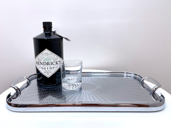 Waldorf Ware by Paramount (Australia) vintage etched stainless steel drinks tray - stunning!