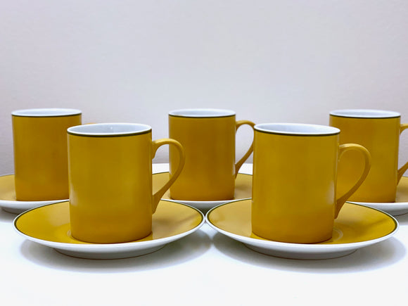 Schmid Kreglinger (Japan) 'Kelco' Lagardo Tackett-designed cup/saucers (x5)
