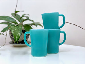 AGEE / CROWN PYREX (Australia) 'Turquoise' coffee mugs [sold separately]