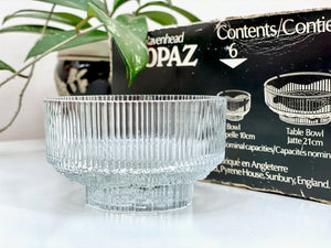 Ravenhead Glass (England) 'Topaz' serving bowls (x6)