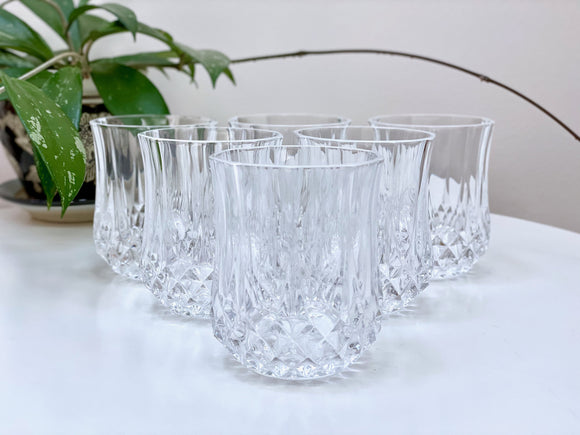 Cristal D'Arques-Durand (France) 'Longchamp' crystal old fashioned glasses (x6)
