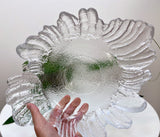 Vintage glass serving / fruit / decorative bowl