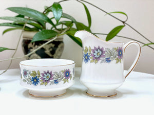 Paragon China (England) 'Cherwell' creamer and sugar bowl