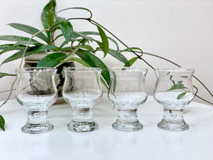 Crown Corning (Australia) 'Hunter' small wine glasses (x4)