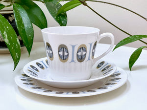 Queen Anne / Ridgway Potteries (England) teacup, saucer and side plate trio
