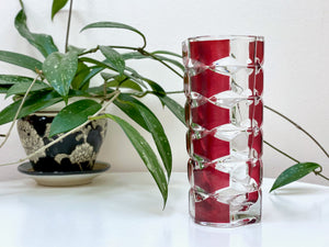 VMC Reims Crystal (France) crystal vase, in ruby