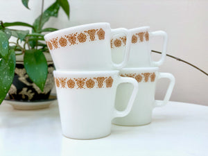 PYREX (USA) 'Butterfly Gold' #1410 Coffee Mugs [sold separately]