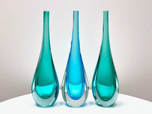 Stunning Mid-Century Blown Glass Vases [sold separately]