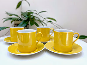 Gempo (Japan) cups and saucers (x4)