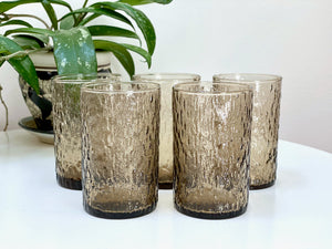 Crown Crystal / Kaaru Glass (New Zealand) 'Windrift' tumbler glasses (x5)