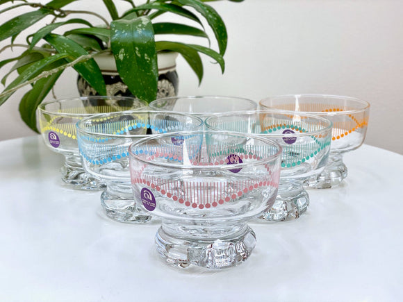 Aderia Glass (Japan) dessert bowls (x6)